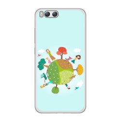 Funda Gel Tpu para Xiaomi Mi6 Diseño Familia Dibujos