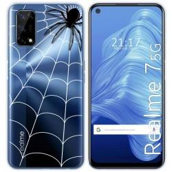Funda Gel Transparente para Realme 7 5G diseño Araña Dibujos