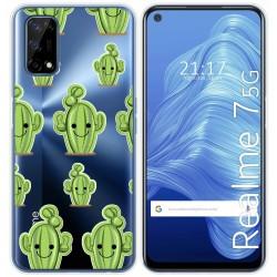 Funda Gel Transparente para Realme 7 5G diseño Cactus Dibujos