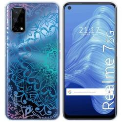 Funda Gel Transparente para Realme 7 5G diseño Mandala Dibujos