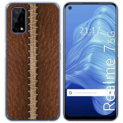Funda Gel Tpu para Realme 7 5G diseño Cuero 01 Dibujos