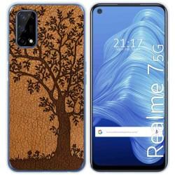 Funda Gel Tpu para Realme 7 5G diseño Cuero 03 Dibujos