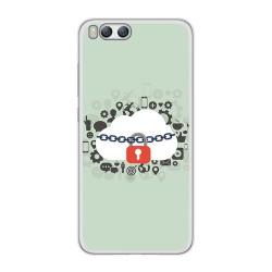 Funda Gel Tpu para Xiaomi Mi6 Diseño Nube Dibujos
