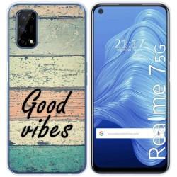 Funda Gel Tpu para Realme 7 5G diseño Madera 01 Dibujos