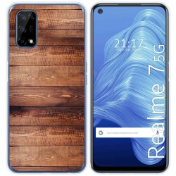Funda Gel Tpu para Realme 7 5G diseño Madera 02 Dibujos