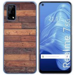 Funda Gel Tpu para Realme 7 5G diseño Madera 03 Dibujos