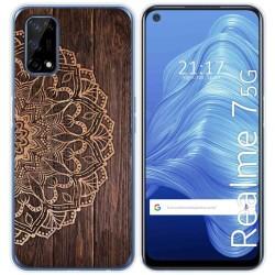 Funda Gel Tpu para Realme 7 5G diseño Madera 06 Dibujos