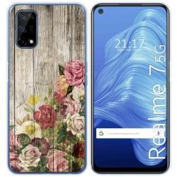 Funda Gel Tpu para Realme 7 5G diseño Madera 08 Dibujos