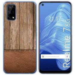 Funda Gel Tpu para Realme 7 5G diseño Madera 09 Dibujos