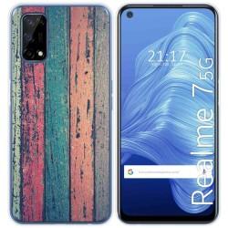 Funda Gel Tpu para Realme 7 5G diseño Madera 10 Dibujos