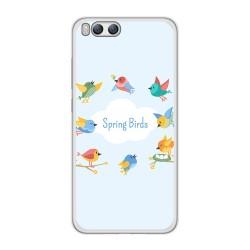 Funda Gel Tpu para Xiaomi Mi6 Diseño Spring Birds Dibujos