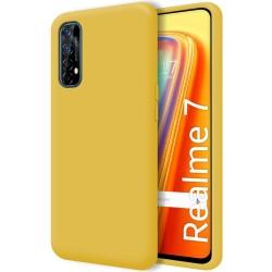 Funda Silicona Líquida Ultra Suave para Realme 7 color Amarilla