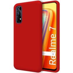 Funda Silicona Líquida Ultra Suave para Realme 7 color Roja