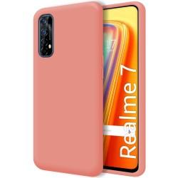 Funda Silicona Líquida Ultra Suave para Realme 7 color Rosa