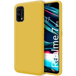 Funda Silicona Líquida Ultra Suave para Realme 7 Pro color Amarilla
