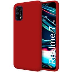 Funda Silicona Líquida Ultra Suave para Realme 7 Pro color Roja