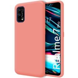 Funda Silicona Líquida Ultra Suave para Realme 7 Pro color Rosa