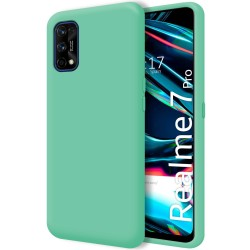 Funda Silicona Líquida Ultra Suave para Realme 7 Pro color Verde