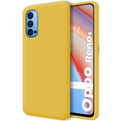 Funda Silicona Líquida Ultra Suave para Oppo Reno 4 5G color Amarilla