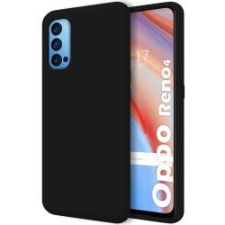 Funda Silicona Líquida Ultra Suave para Oppo Reno 4 5G color Negra