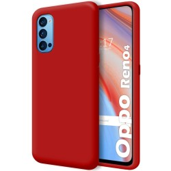 Funda Silicona Líquida Ultra Suave para Oppo Reno 4 5G color Roja