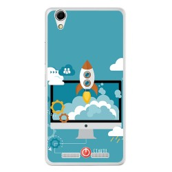 Funda Gel Tpu para Lenovo K10 Diseño Cohete Dibujos