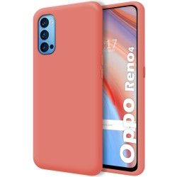 Funda Silicona Líquida Ultra Suave para Oppo Reno 4 5G color Rosa