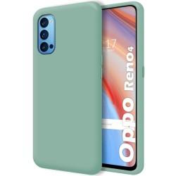 Funda Silicona Líquida Ultra Suave para Oppo Reno 4 5G color Verde