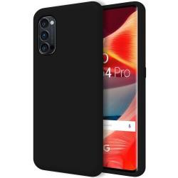Funda Silicona Líquida Ultra Suave para Oppo Reno 4 Pro 5G color Negra
