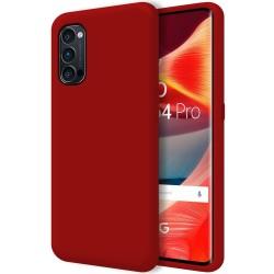 Funda Silicona Líquida Ultra Suave para Oppo Reno 4 Pro 5G color Roja
