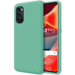 Funda Silicona Líquida Ultra Suave para Oppo Reno 4 Pro 5G color Verde
