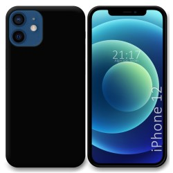 Funda Silicona Gel TPU Negra para Iphone 12 / 12 Pro (6.1)