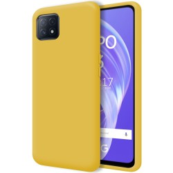 Funda Silicona Líquida Ultra Suave para Oppo A73 5G color Amarilla