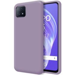 Funda Silicona Líquida Ultra Suave para Oppo A73 5G color Morada