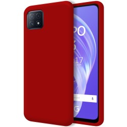 Funda Silicona Líquida Ultra Suave para Oppo A73 5G color Roja