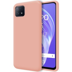 Funda Silicona Líquida Ultra Suave para Oppo A73 5G color Rosa