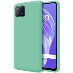 Funda Silicona Líquida Ultra Suave para Oppo A73 5G color Verde