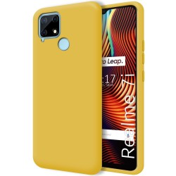 Funda Silicona Líquida Ultra Suave para Realme 7i color Amarilla