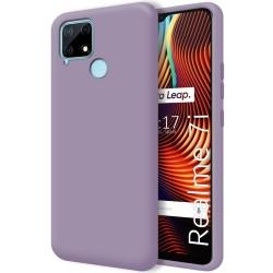 Funda Silicona Líquida Ultra Suave para Realme 7i color Morada
