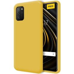 Funda Silicona Líquida Ultra Suave para Xiaomi POCO M3 / Redmi 9T color Amarilla