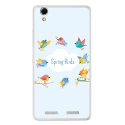 Funda Gel Tpu para Lenovo K10 Diseño Spring Birds Dibujos