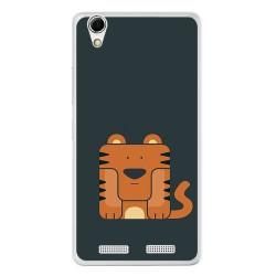 Funda Gel Tpu para Lenovo K10 Diseño Tigre Dibujos