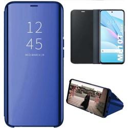 Funda Flip Cover Clear View para Xiaomi Mi 10T Lite color Azul