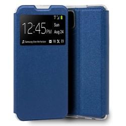 Funda Libro Soporte con Ventana para Samsung Galaxy A12 color Azul