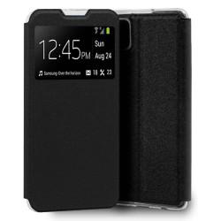 Funda Libro Soporte con Ventana para Samsung Galaxy A12 color Negra
