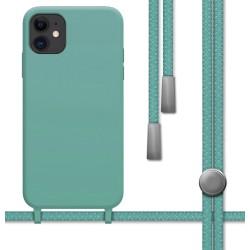 Funda Silicona Líquida con Cordón para Iphone 11 (6.1) color Verde