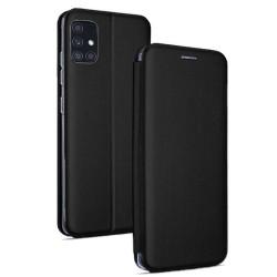 Funda Libro Soporte Magnética Elegance Negra para Samsung Galaxy M51