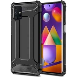 Funda Tipo Hybrid Tough Armor (Pc+Tpu) Negra para Samsung Galaxy M31s
