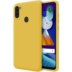 Funda Silicona Líquida Ultra Suave para Samsung Galaxy A11 / M11 color Amarilla