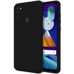 Funda Silicona Líquida Ultra Suave para Samsung Galaxy A11 / M11 color Negra